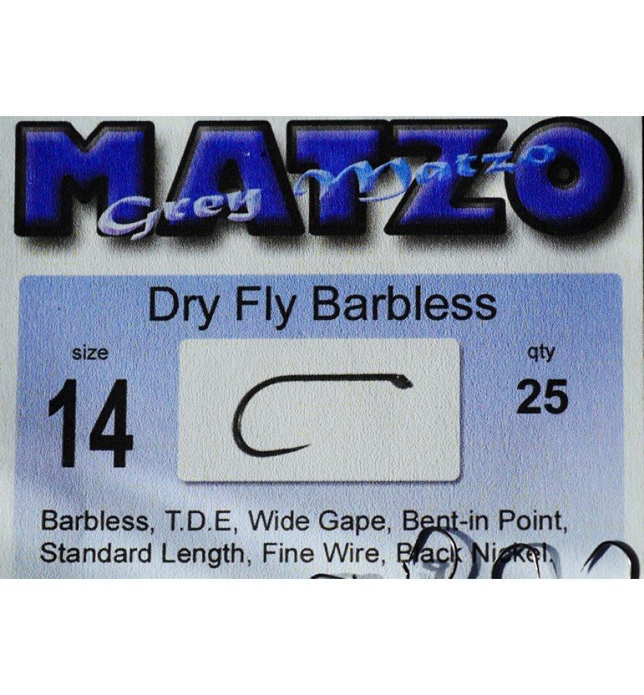 Grey Matzo Dry Fly Barbless