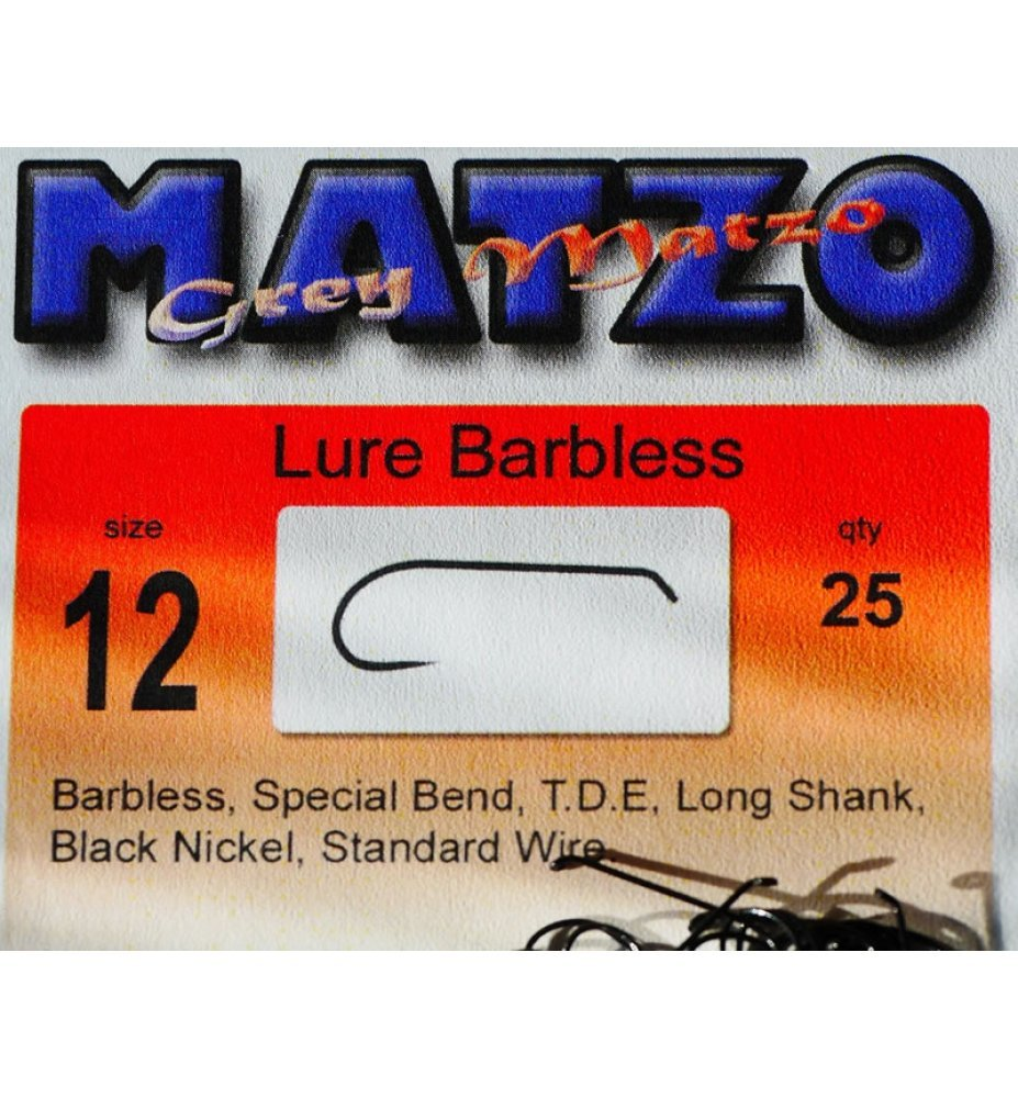 Grey Matzo Lure Barbless