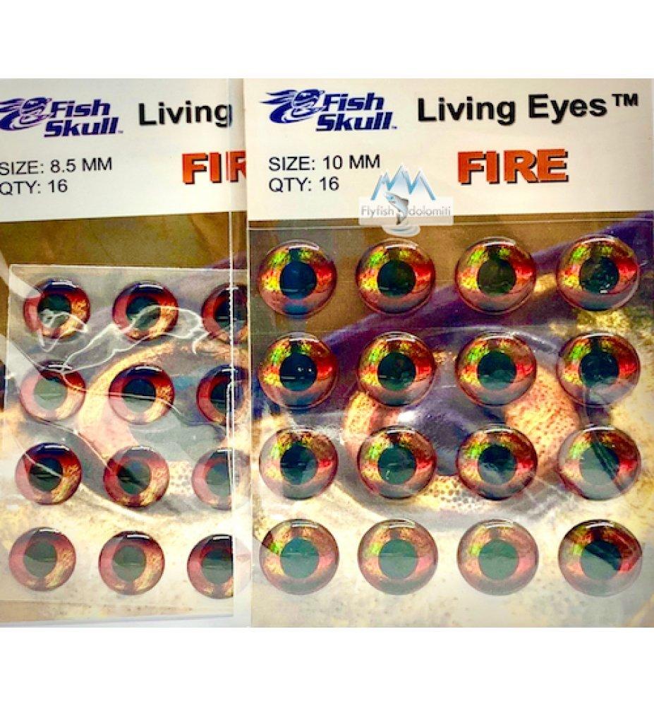 Fish Skull Living Eyes Fire