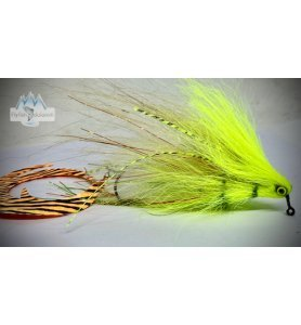 Pacchiarini Dragon Tail Jig Pike Streamer white/chartreuse
