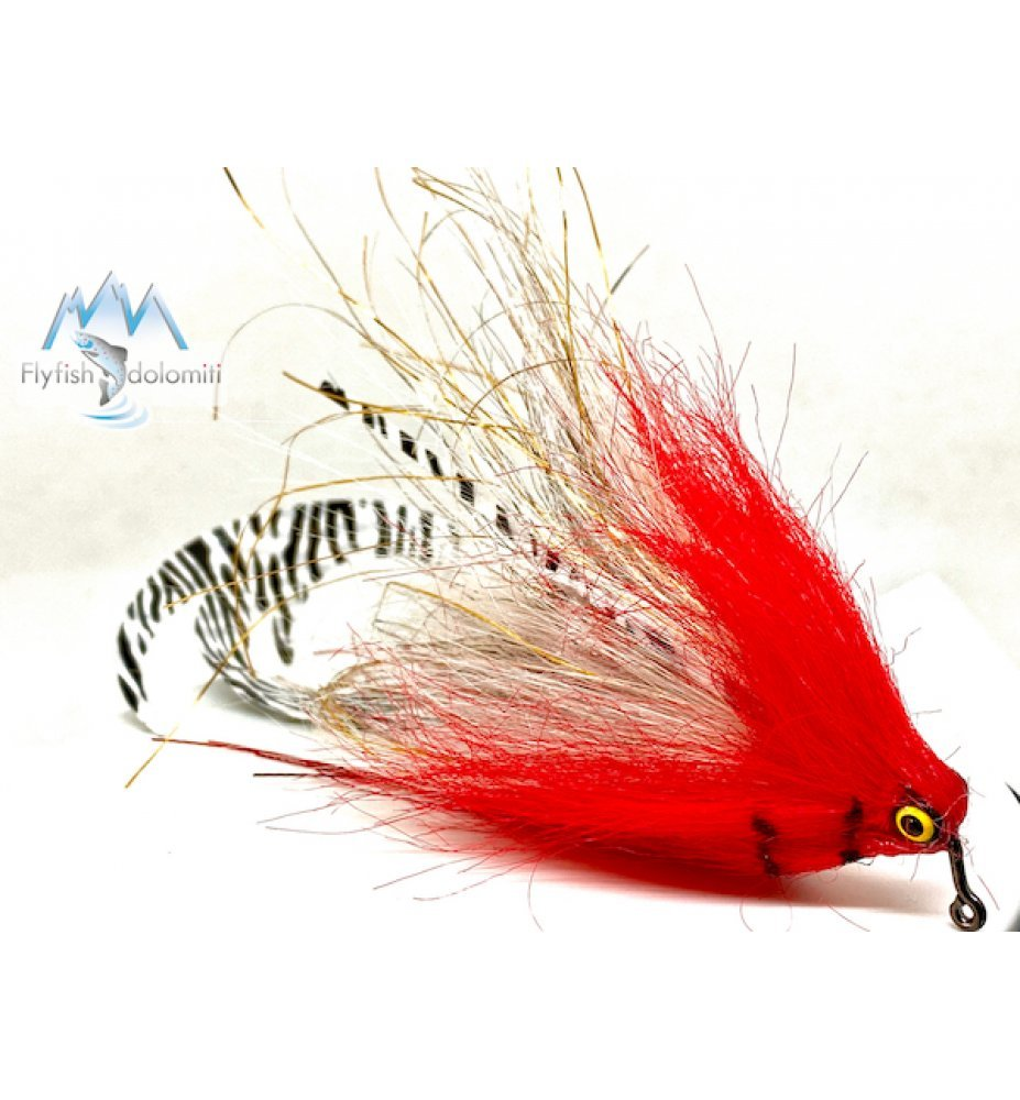 Pacchiarini Dragon Tail Jig Pike Streamer Red/White