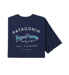 Patagonia Men's Framed Fitz Roy Trout Organic Cotton T-Shirt CNY