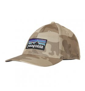 PATAGONIA P-6 LOGO STRETCH FIT HAT FOREST CAMO
