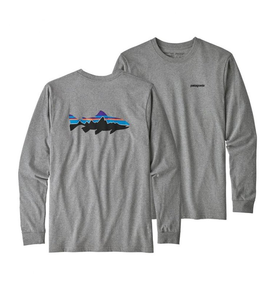 Patagonia Men's Long-Sleeved Fitz Roy Trout Responsibili-Tee