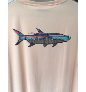 Patagonia Long-Sleeved  Cool Daily Fish Tarpon Graphic Shirt (Light Peach)