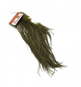 Whiting 1/2 Saddle Grizzly Dyed  Olive