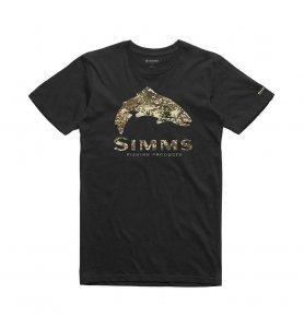 Simms M's Trout River Camo T-Shirt