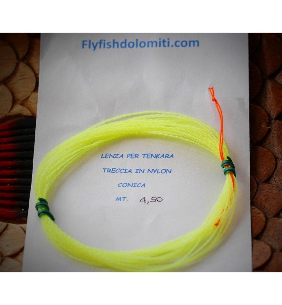 FLYFISHDOLMITI TRECCIA DI NYLON TENKARA CONICA 4,5M