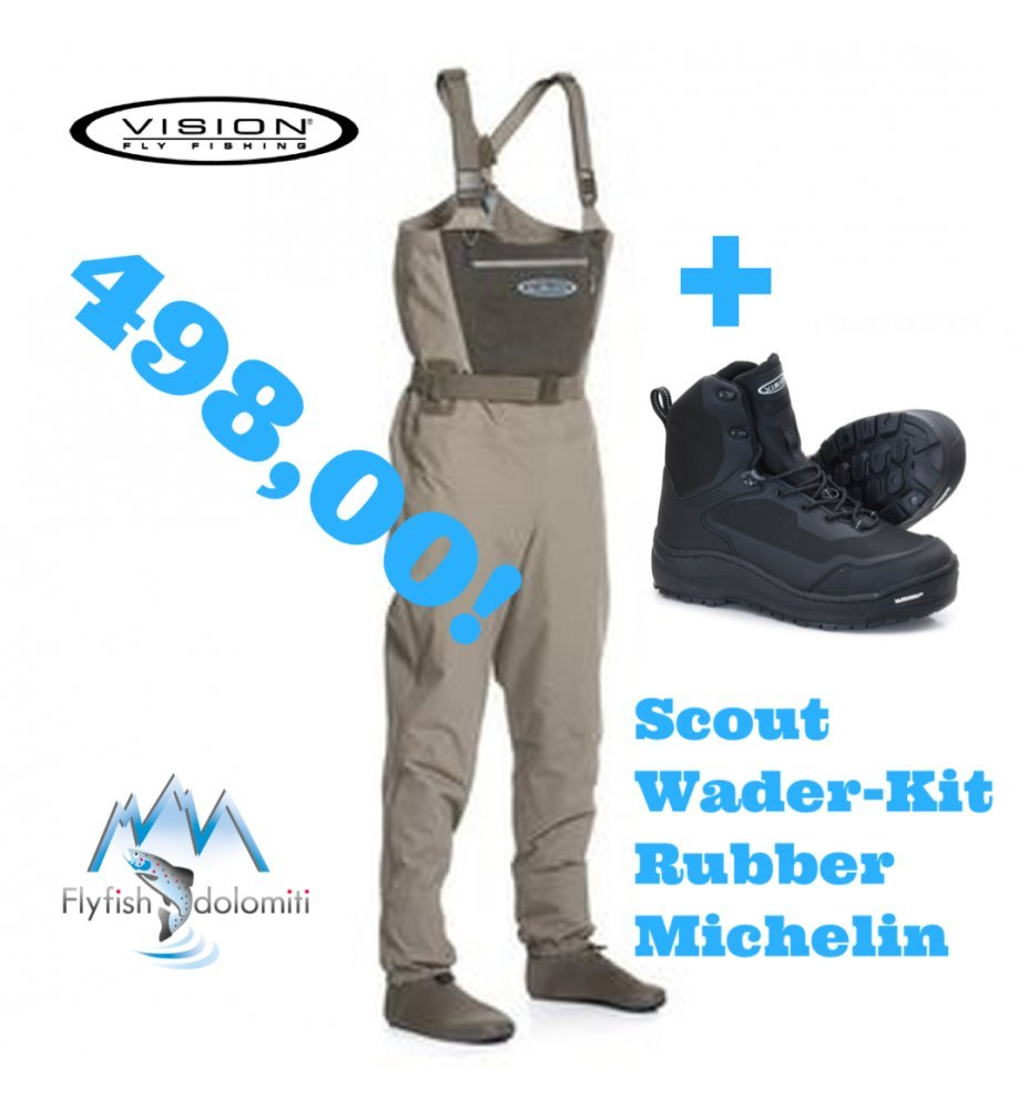 Vision Set Scout Waders & Scarponi Musta Michelin