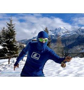 LOOP Wool Hood Sweater Blue Saphire