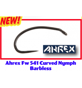 AHREX FW581 HOOK Barbless Classic Nymph Wet Fly Tying Hooks 24 Pack NEW!