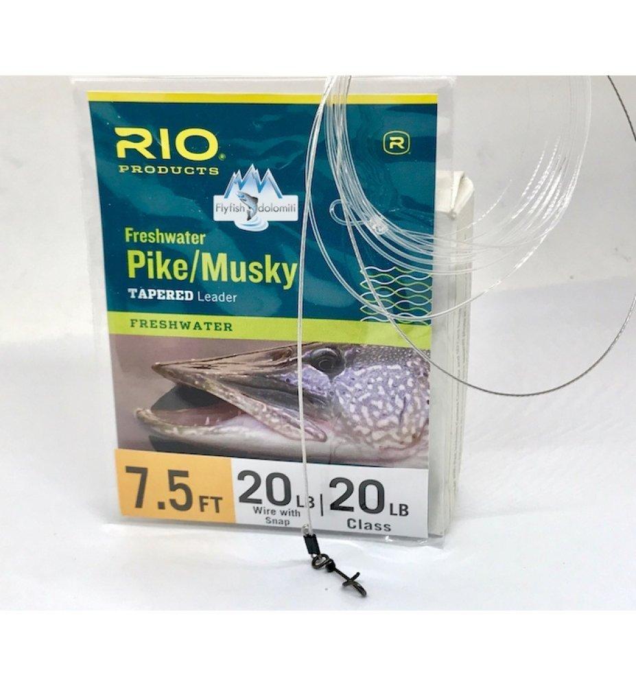 Rio Pike Musky Finale con cavetto e moschettone