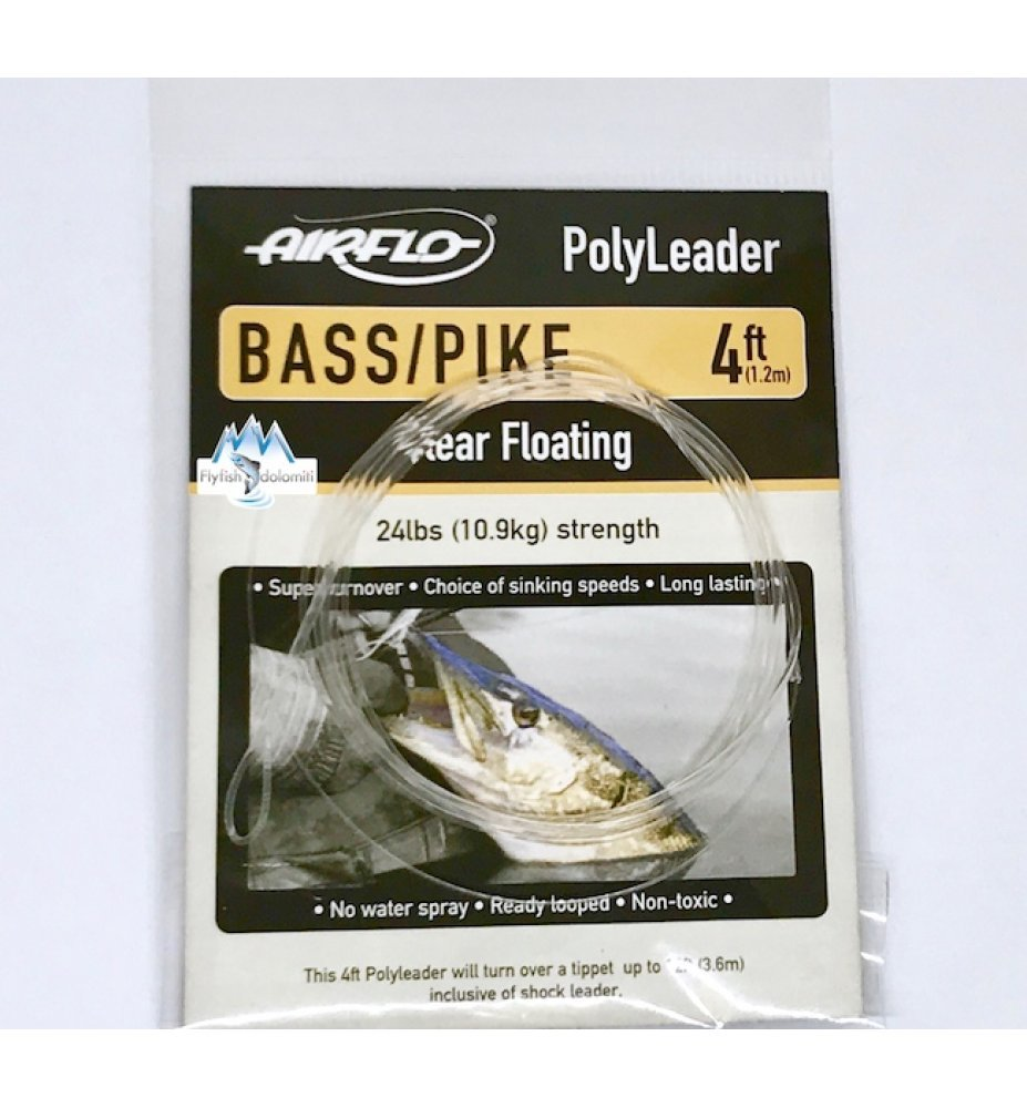 Airflo Polyleader Bass/Pike - Clear floating